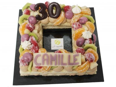 Number Cake fruits